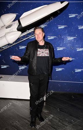 SpaceX owner and Tesla CEO Elon Musk arrives on the red carpet for the Axel Springer award, in Berlin, Germany, 01 December 2020.