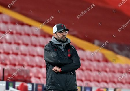 Liverpool's manager Jurgen Klopp reacts during the Champions League group D soccer match between Liverpool and Ajax at Anfield stadium in Liverpool, England