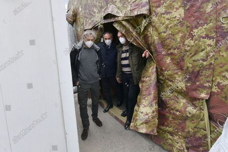Editorial picture of Gino Strada visits the Army Field Hospital in Crotone in Calabria, Italy - 01 Dec 2020