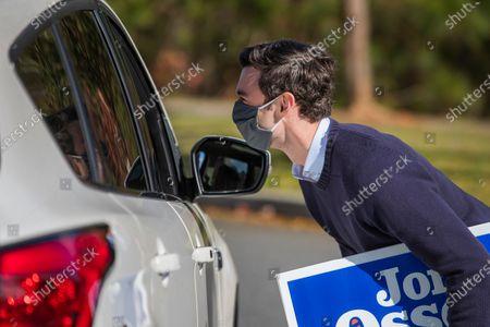 Editorial image of Democratic Georgia US Senate candidate Jon Ossoff in Alpharetta, Georgia, USA - 01 Dec 2020