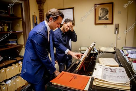 Editorial picture of Thierry Baudet plays piano, The Hague, Netherlands - 01 Dec 2020