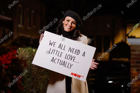 Martine McCutcheon surprises a couple at home, as she delivers a Love Actually inspired doorstep greeting to celebrate the launch of NOW TV's Christmas movie season