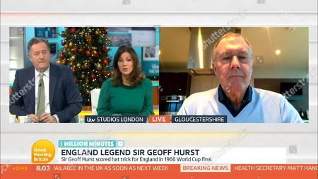 Stock Photo of Piers Morgan, Susanna Reid and Sir Geoff Hurst