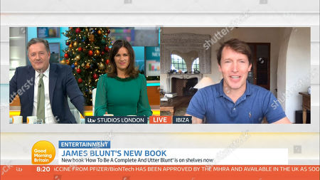 Piers Morgan, Susanna Reid and James Blunt