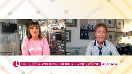 Lorraine Kelly and Sir Cliff Richard