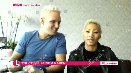 Jamie Laing and Karen Clifton