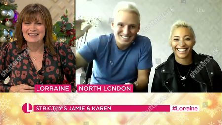 Lorraine Kelly, Jamie Laing and Karen Clifton