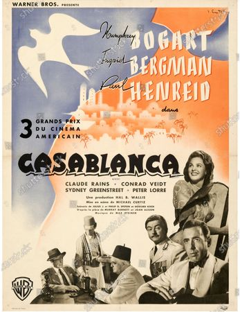 A second Casablanca poster sold for £30,500.   An extremely rare poster for the classic movie Casablanca has sold for a staggering £255,000.  The 80ins by 80ins 'six sheet' colour poster for the 1942 romantic war epic featured its stars Humphrey Bogart and Ingrid Bergman.  It led a £2.9m auction of vintage movie posters that also included a 1933 billboard for King Kong that sold for £250,000 and a 1938 advert for Dracula that went for £240,000.