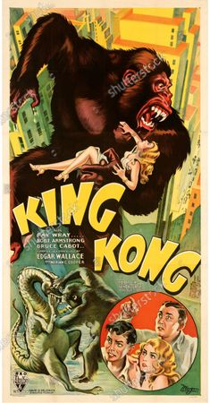 Stock Photo of This King Kong poster sold for £250,000.   An extremely rare poster for the classic movie Casablanca has sold for a staggering £255,000.  The 80ins by 80ins 'six sheet' colour poster for the 1942 romantic war epic featured its stars Humphrey Bogart and Ingrid Bergman.  It led a £2.9m auction of vintage movie posters that also included a 1933 billboard for King Kong that sold for £250,000 and a 1938 advert for Dracula that went for £240,000.