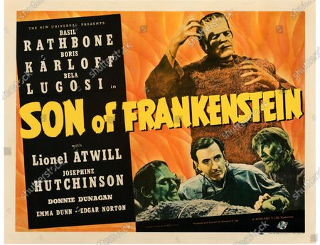 Stock Photo of This Son of Frankenstein poster sold for £135,000.   An extremely rare poster for the classic movie Casablanca has sold for a staggering £255,000.  The 80ins by 80ins 'six sheet' colour poster for the 1942 romantic war epic featured its stars Humphrey Bogart and Ingrid Bergman.  It led a £2.9m auction of vintage movie posters that also included a 1933 billboard for King Kong that sold for £250,000 and a 1938 advert for Dracula that went for £240,000.