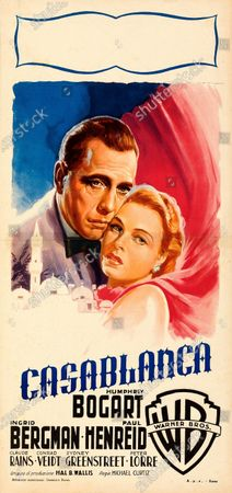 A third Casablanca poster sold for £43,000.   An extremely rare poster for the classic movie Casablanca has sold for a staggering £255,000.  The 80ins by 80ins 'six sheet' colour poster for the 1942 romantic war epic featured its stars Humphrey Bogart and Ingrid Bergman.  It led a £2.9m auction of vintage movie posters that also included a 1933 billboard for King Kong that sold for £250,000 and a 1938 advert for Dracula that went for £240,000.