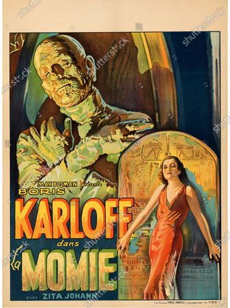 Stock Image of This Boris Karloff La Momie poster sold for £29,600.   An extremely rare poster for the classic movie Casablanca has sold for a staggering £255,000.  The 80ins by 80ins 'six sheet' colour poster for the 1942 romantic war epic featured its stars Humphrey Bogart and Ingrid Bergman.  It led a £2.9m auction of vintage movie posters that also included a 1933 billboard for King Kong that sold for £250,000 and a 1938 advert for Dracula that went for £240,000.