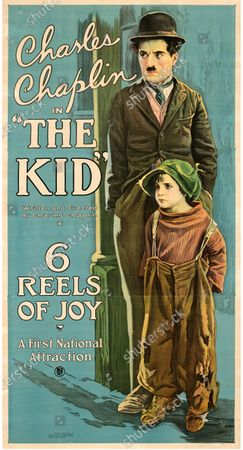 """Stock Image of This Charlie Chaplin """"The Kid"""" poster sold for £170,000.   An extremely rare poster for the classic movie Casablanca has sold for a staggering £255,000.  The 80ins by 80ins 'six sheet' colour poster for the 1942 romantic war epic featured its stars Humphrey Bogart and Ingrid Bergman.  It led a £2.9m auction of vintage movie posters that also included a 1933 billboard for King Kong that sold for £250,000 and a 1938 advert for Dracula that went for £240,000."""