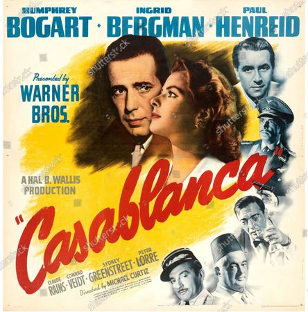 An extremely rare poster for the classic movie Casablanca has sold for a staggering £255,000.  The 80ins by 80ins 'six sheet' colour poster for the 1942 romantic war epic featured its stars Humphrey Bogart and Ingrid Bergman.  It led a £2.9m auction of vintage movie posters that also included a 1933 billboard for King Kong that sold for £250,000 and a 1938 advert for Dracula that went for £240,000.