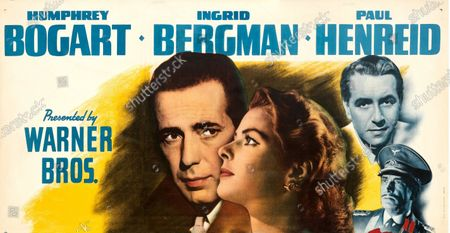Stock Picture of Top billing, for a top price poster.   An extremely rare poster for the classic movie Casablanca has sold for a staggering £255,000.  The 80ins by 80ins 'six sheet' colour poster for the 1942 romantic war epic featured its stars Humphrey Bogart and Ingrid Bergman.  It led a £2.9m auction of vintage movie posters that also included a 1933 billboard for King Kong that sold for £250,000 and a 1938 advert for Dracula that went for £240,000.