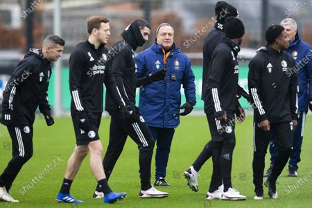 Feyenoord coach Dick Advocaat (C) during a training session Training Complex 1908 in Rotterdam, The Netherlands, 02 December 2020. Feyenoord faces Dinamo Zagreb in an UEFA Europe League group stage match on 03 December.