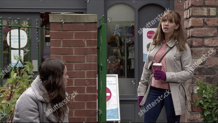 Coronation Street - Ep 10194 Monday 14th December 2020 - 2nd Ep Ray Crosby finds Faye Windass, as played by Elle Leach, in Victoria Gardens where she accuses him of trying to rape her. Maria Windass, as played by Samia Longchambon, arrives and sends Ray away with a flea in his ear then begs Faye to report him to the police before Gary gets to him.