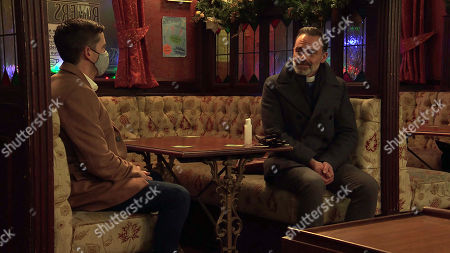 Coronation Street - Ep 10200 Monday 21st December 2020 - 2nd Ep Todd Grimshaw, as played by Gareth Pierce, finds Billy Mayhew, as played by Daniel Brocklebank, drinking alone in the Rovers. When Billy explains how Paul had to go to a friend's rescue, Todd keeps his counsel.