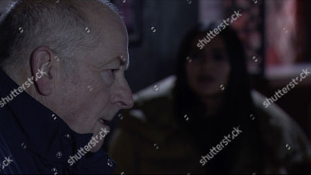Coronation Street - Ep 10189 & Ep10190 Wednesday 9th December 2020 The fall out from the trial verdict reverberates around the street and Geoff Metcalfe, as played by Ian Bartholomew, and Alya Nazir, as played by Sair Khan, lock horns once more.
