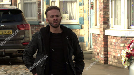 Coronation Street - Ep 10199 Monday 21st December 2020 - 1st Ep Having watched the bistro CCTV, Ray Crosby orders David Platt, as played by Jack P Shepherd, to drop his campaign against the planning application or he'll report Shona to the police for breaking into the Bistro and stealing cocktails..