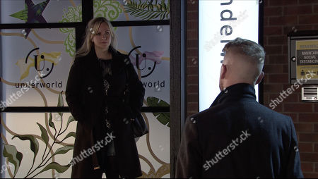 Coronation Street - Ep 10197 & Ep 10198 Friday 18th December 2020 Gary Windass, as played by Mikey North, confronts Sarah Barlow, as played by Tina O'Brien, and accuses her of shopping him to the police. Sarah denies it.