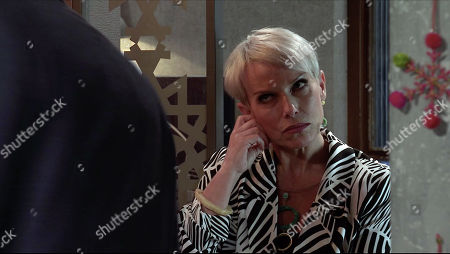 Stock Picture of Coronation Street - Ep 10196 Wednesday 16th December 2020 - 2nd Ep Ray Crosby, as played by Mark Frost, is furious with Debbie Webster, as played by Sue Devaney, for failing to consult him about the revised development and tells her that from now on, he makes the decisions.