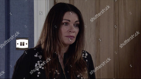 Coronation Street - Ep 10187 & Ep 10188 Monday 7th December 2020 Peter Barlow apologises to Carla Connor, as played by Alison King, for his paranoia and getting down on one knee, proposes to her, revealing that he's booked a blessing in Kefalonia.