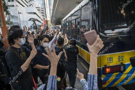 Editorial photo of Sentencing of pro-democracy activists in Hong Kong, China - 02 Dec 2020