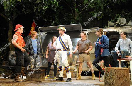 Mark Rylance ( Johnny 'Rooster' Byron ), Mackenzie Crook ( Ginger ), Charlotte Mills ( Tanya ), Gerard Horan ( Wesley ), Danny Kirrane ( Davey ), Jessica Barden ( Pea ) and Tom Brooke ( Lee )
