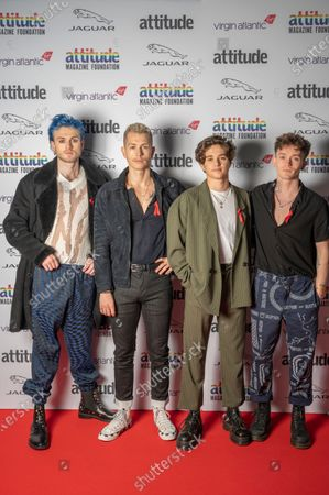 Stock Image of The Vamps - Connor Ball, Tristan Evans,James McVey and Brad Simpson