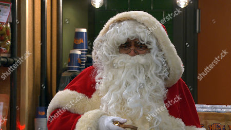 Emmerdale - Ep 8924 & Ep 8925 Friday 25th December 2020 Rishi Sharma, as played by Bhasker Patel, prepares to surprise Jai and Laurel's kids by dressing as Santa, but Manpreet and Priya Sharma quickly convince him to drop the act.