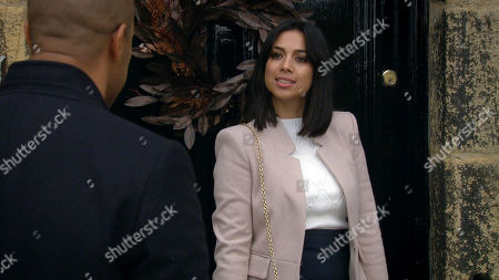 Emmerdale - Ep 8922 & Ep 8923 Thursday 24th December 2020 Priya Sharma, as played by Fiona Wade, is firm on wanting Al to herself this Christmas but Al Grant, as played by Michael Wildman, steals himself to send one last message to his mystery woman, delighted at the game he's successfully playing.