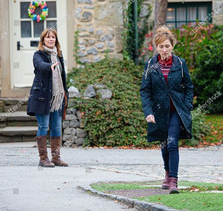 Emmerdale - Ep 8911 Thursday 10th December 2020 - 2nd Ep Rhona Goskirk, as played by Zoe Henry, is left upset and angry that Laurel Thomas, as played by Charlotte Bellamy, has put her in this situation and Laurel is left devastated.