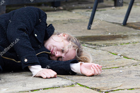 Emmerdale - Ep 8908 Tuesday 8th December 2020 Dawn Taylor, as played by Olivia Bromley, drops unconscious and has a potentially devastating diagnosis.