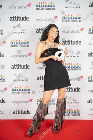 Editorial photo of Virgin Atlantic Attitude Awards Powered By Jaguar, Press Room, UK - 01 Dec 2020