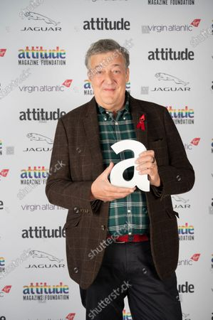 Stephen Fry with The Icon Award
