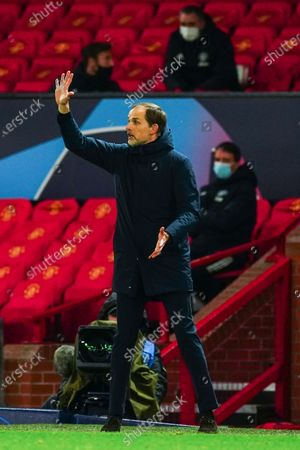Paris Saint-Germain manager Thomas Tuchel reacts on the sideline