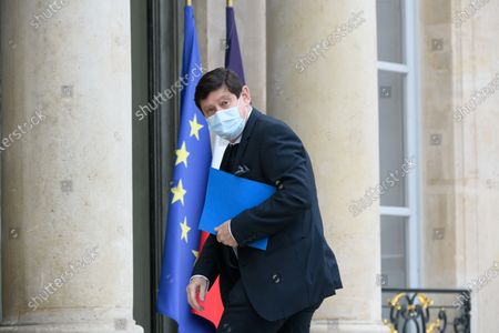 Stock Photo of Patrick Kanner arriving for a lunch of the senate group presidents at the Elysee Palace.