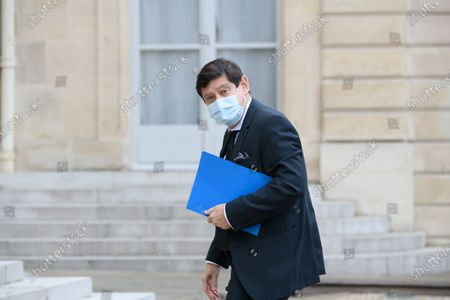 Patrick Kanner arriving for a lunch of the senate group presidents at the Elysee Palace.