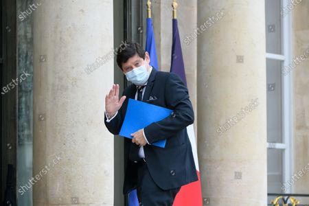 Stock Picture of Patrick Kanner arriving for a lunch of the senate group presidents at the Elysee Palace.