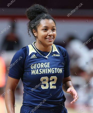 Essence Brown 32 of George Washington in the second half of the George Washington - Virginia Tech women's NCAA basketball game in Blacksburg Va