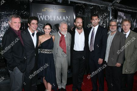 Director Joe Johnston, Benicio Del Toro, Emily Blunt, Sir Anthony Hopkins, Hugo Weaving, Producer Sean Daniel and Executive Producer Ryan Kavanaugh