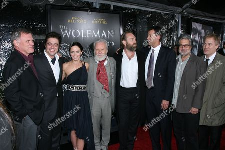Director Joe Johnston, Benicio Del Toro, Emily Blunt, Sir Anthony Hopkins, Hugo Weaving,Producer Scott Stuber, Producer Sean Daniel and Executive Producer Ryan Kavanaugh