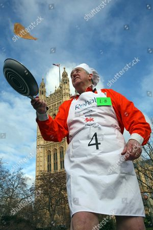 Editorial image of Annual Rehab Parliamentary Pancake Race, Victoria Tower Gardens, Westminster, London, Britain - 09 Feb 2010