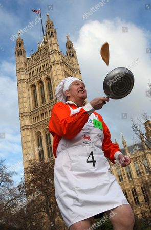 Editorial photo of Annual Rehab Parliamentary Pancake Race, Victoria Tower Gardens, Westminster, London, Britain - 09 Feb 2010