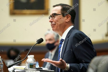 Treasury Secretary Steven Mnuchin testifies before a House Financial Services Committee hearing on Capitol Hill in Washington