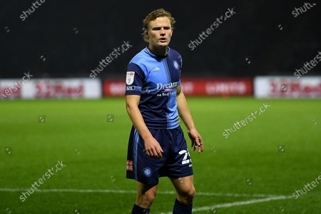 Wycombe Wanderers striker Alex Samuel (25) during the EFL Sky Bet Championship match between Wycombe Wanderers and Stoke City at Adams Park, High Wycombe