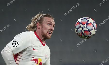 Emil Forsberg of Leipzig in action during the UEFA Champions League group H soccer match between Istanbul Basaksehir and RB Leipzig in Istanbul, Turkey, 02 December 2020.