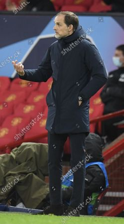 Paris St Germain's coach Thomas Tuchel reacts during the UEFA Champions League group H match between Manchester United and PSG in Manchester, Britain, 02 December 2020.