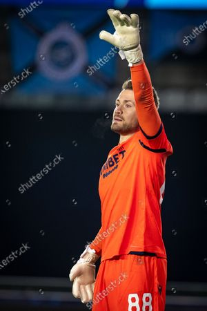 Club's goalkeeper Simon Mignolet pictured during a soccer game between Belgian Club Brugge KV and Russian FC Zenit Saint Petersburg, Wednesday 02 December 2020 in Brugge, game four in the group stage of the UEFA Champions League, in group F.